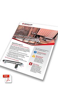 Belt conveyor lubrication without shutdown